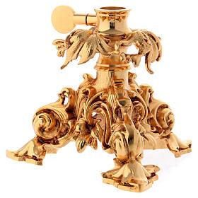 Leggio da mensa girevole ottone fuso bagno oro 24 K s8