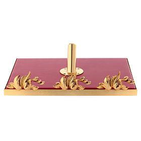 Leggio da mensa girevole ottone fuso bagno oro 24 K s9