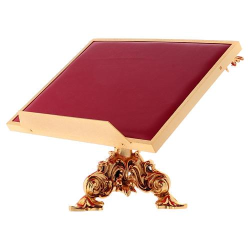 Leggio da mensa girevole ottone fuso bagno oro 24 K 2