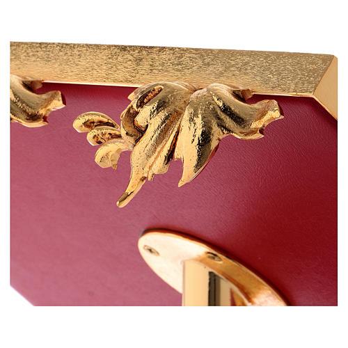 Leggio da mensa girevole ottone fuso bagno oro 24 K 6