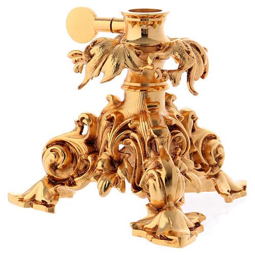 Leggio da mensa girevole ottone fuso bagno oro 24 K 8
