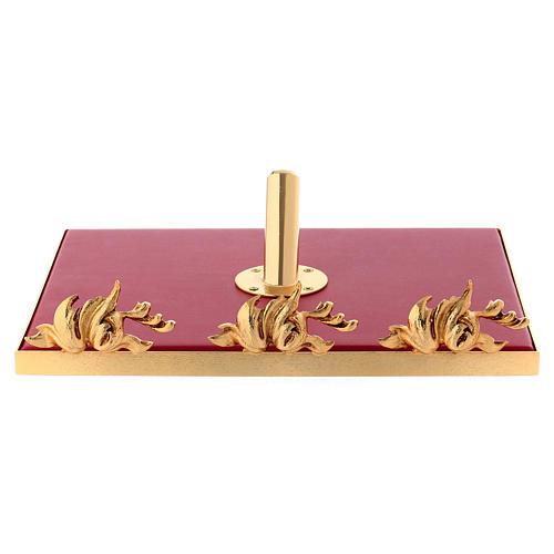 Leggio da mensa girevole ottone fuso bagno oro 24 K 9