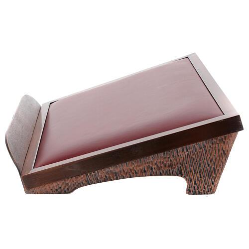 Atril de misa cobrizo con terciopelo rojo 3