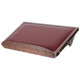 Leggio da mensa ramato con velluto rosso s2