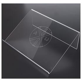 Leggio con simbolo alfa e omega in plexiglass 25x35 cm s2