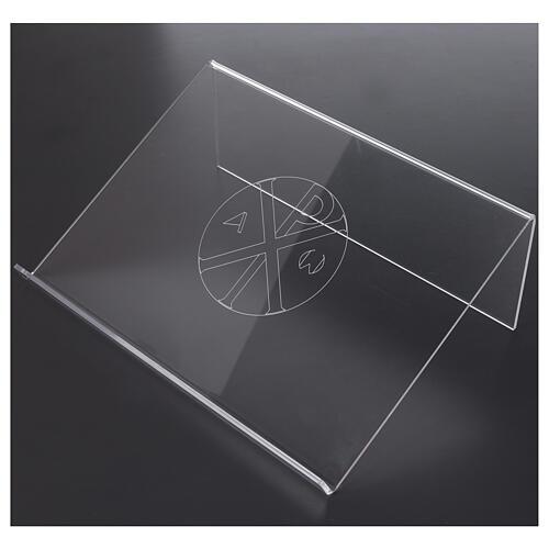 Leggio con simbolo alfa e omega in plexiglass 25x35 cm 2