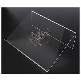 Atril plexiglás con Cordero de la Paz 25x35 cm  s2
