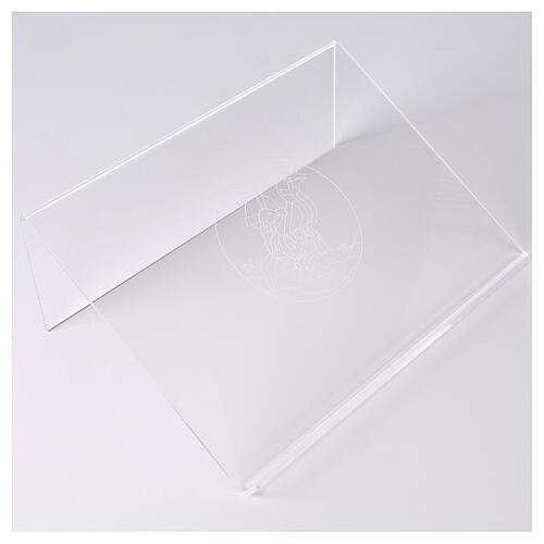 Atril plexiglás con Cordero de la Paz 25x35 cm  1