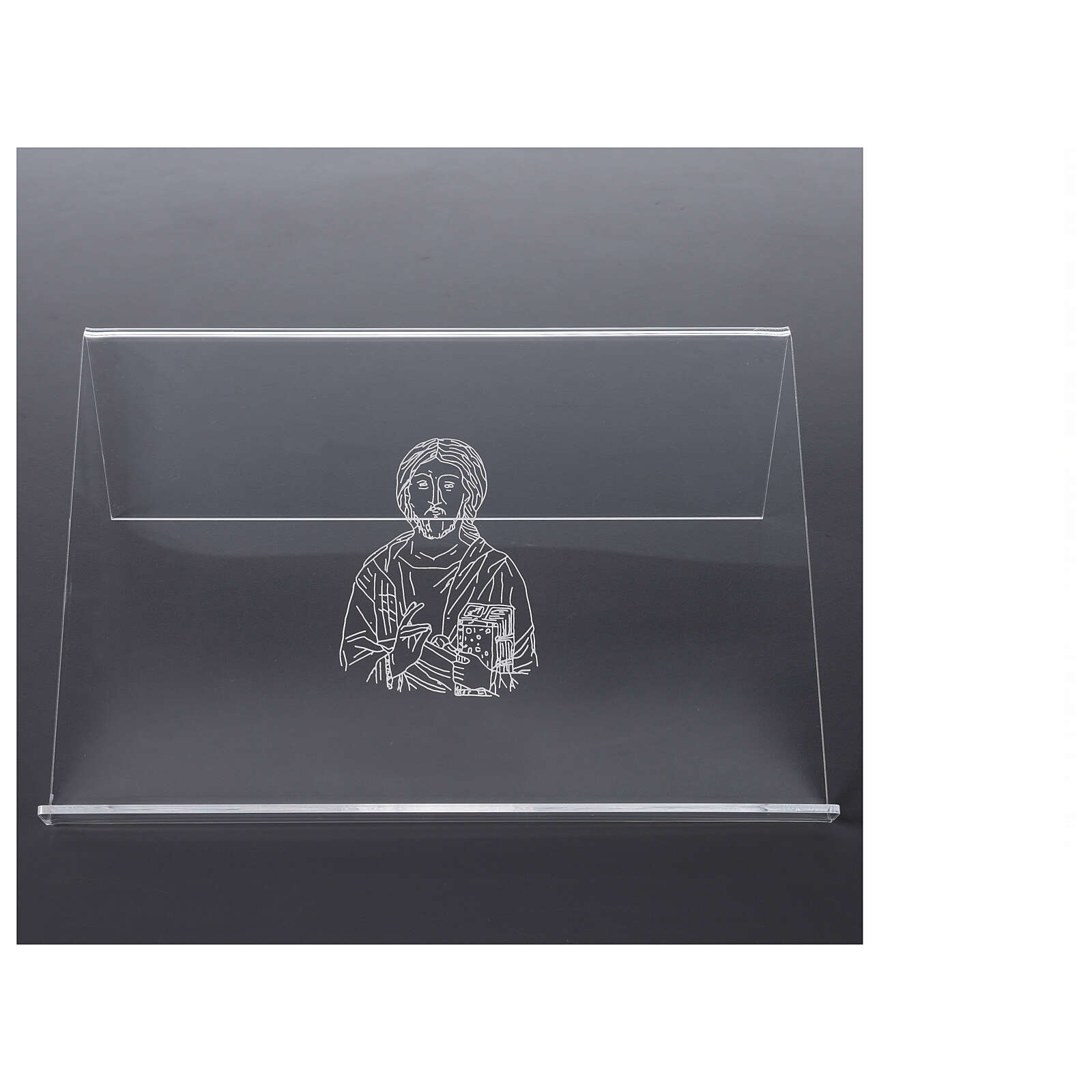 Atril plexiglás con imagen de Cristo 25x35 cm 4