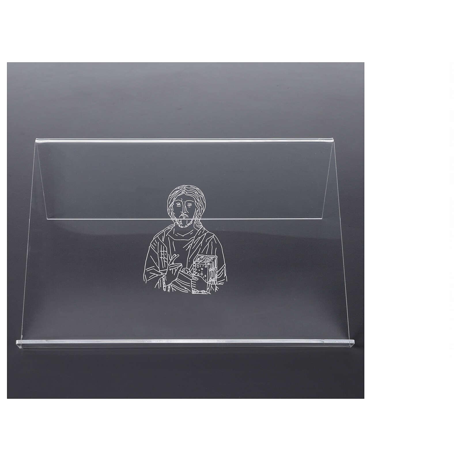 Pupitre plexiglas avec image de Christ 25x35 cm 4