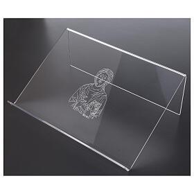 Pupitre plexiglas avec image de Christ 25x35 cm s2