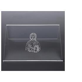 Pupitre plexiglas avec image de Christ 25x35 cm s3