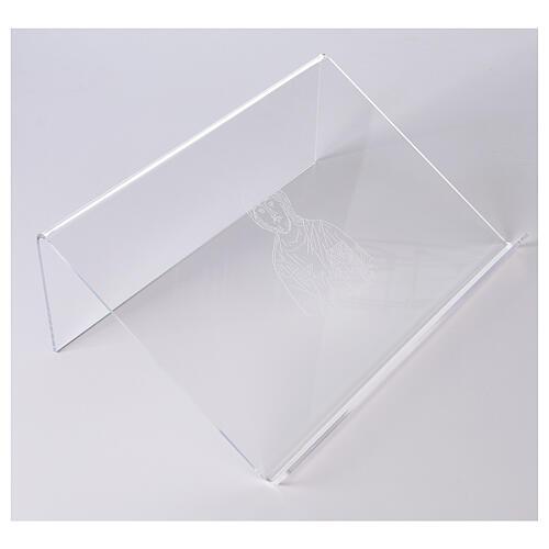 Pupitre plexiglas avec image de Christ 25x35 cm 1