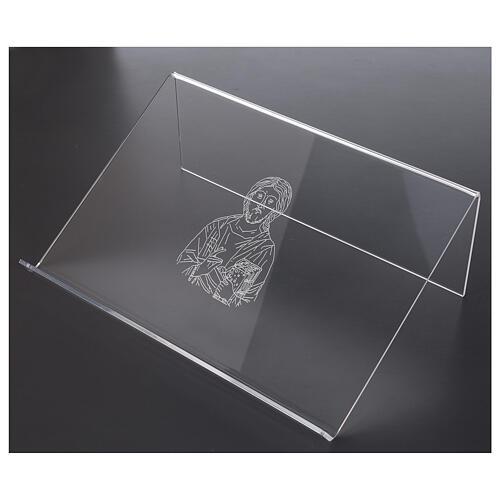 Pupitre plexiglas avec image de Christ 25x35 cm 2