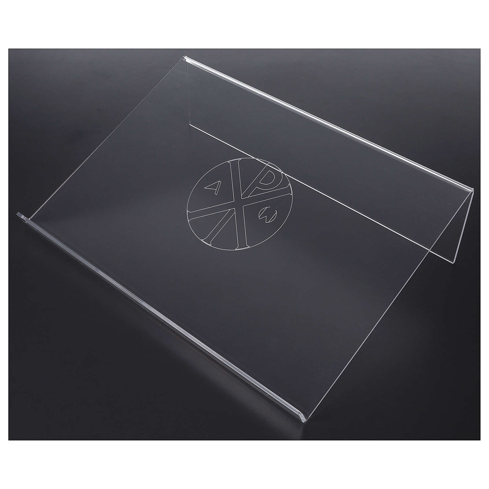 Bookstand in plexiglass with Chi-Rho engraving 45x30cm 4