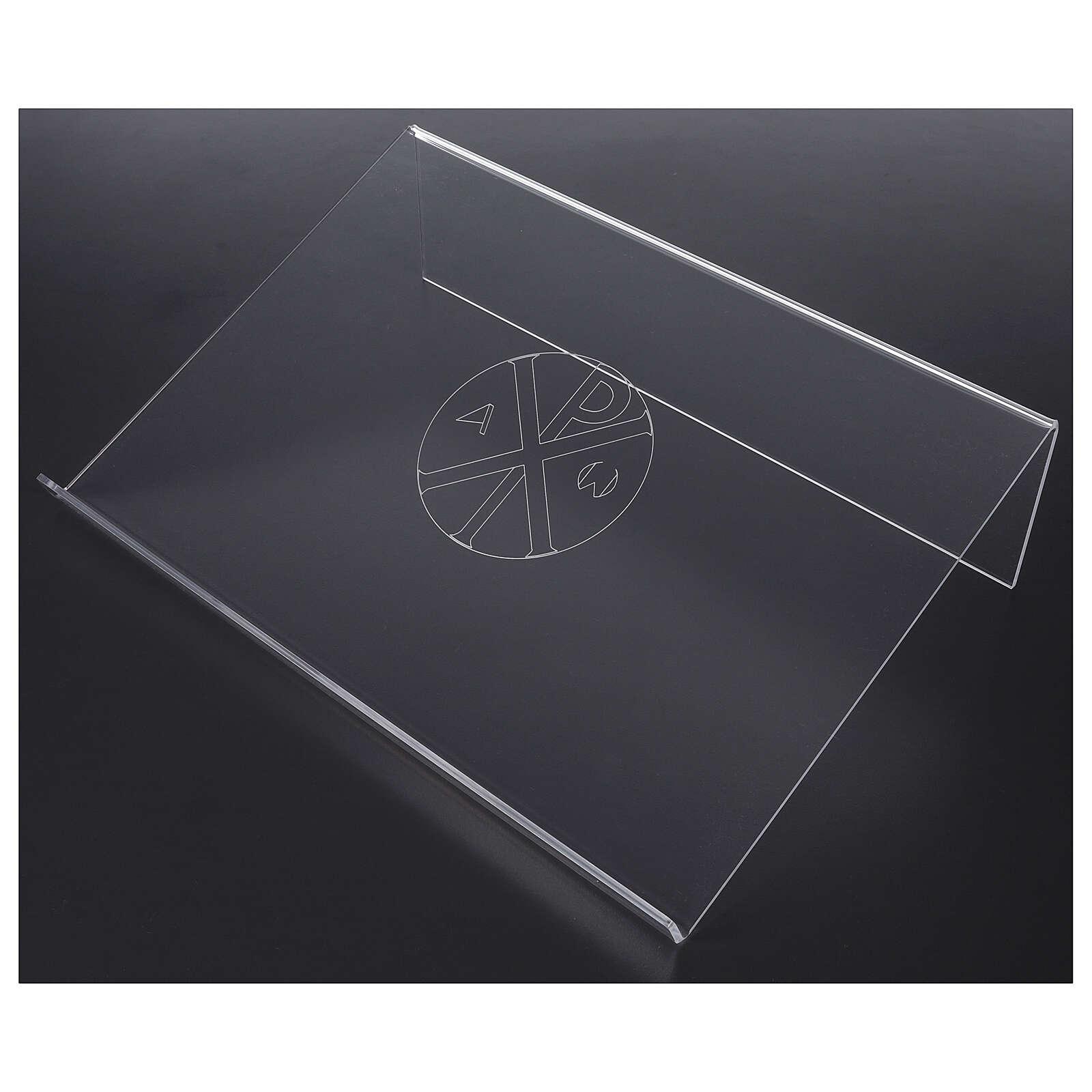 Atril plexiglás con incisión PX 25x35 cm   4