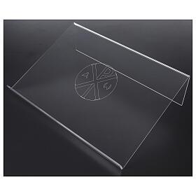 Pupitre plexiglas avec gravure Chi-Rho 45x30cm s2