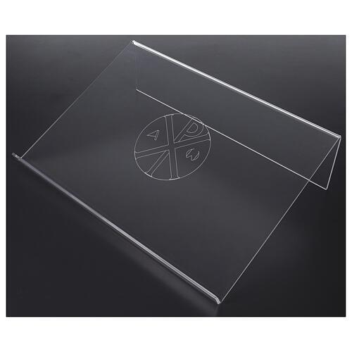 Estante de mesa em acrílico cristograma XP 45x30cm 2