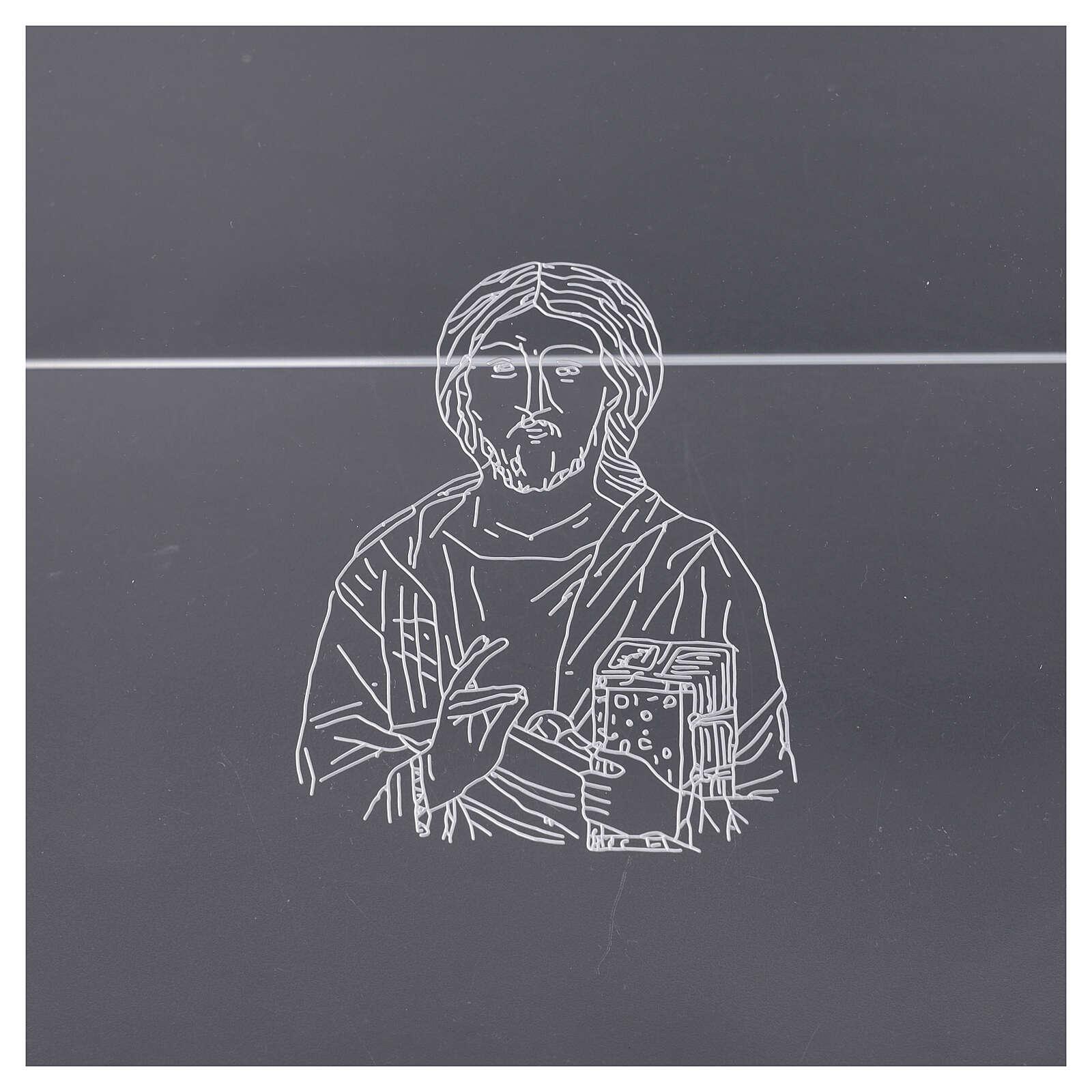 Leggio plexiglass incisione figura di Cristo 45X30 cm 4