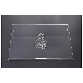 Leggio plexiglass incisione figura di Cristo 45X30 cm s1