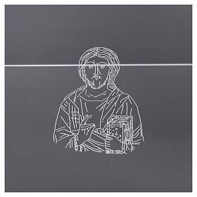 Leggio plexiglass incisione figura di Cristo 45X30 cm s2