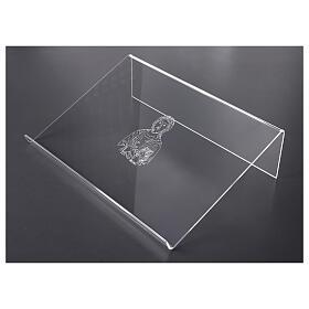 Leggio plexiglass incisione figura di Cristo 45X30 cm s3