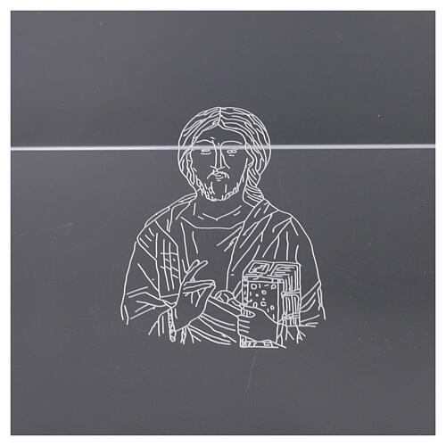 Leggio plexiglass incisione figura di Cristo 45X30 cm 2