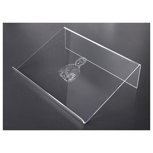 Leggio plexiglass incisione figura di Cristo 45X30 cm 3