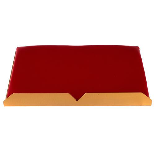 Leggio da mensa bicolore 38x25 cm fatto a mano 6