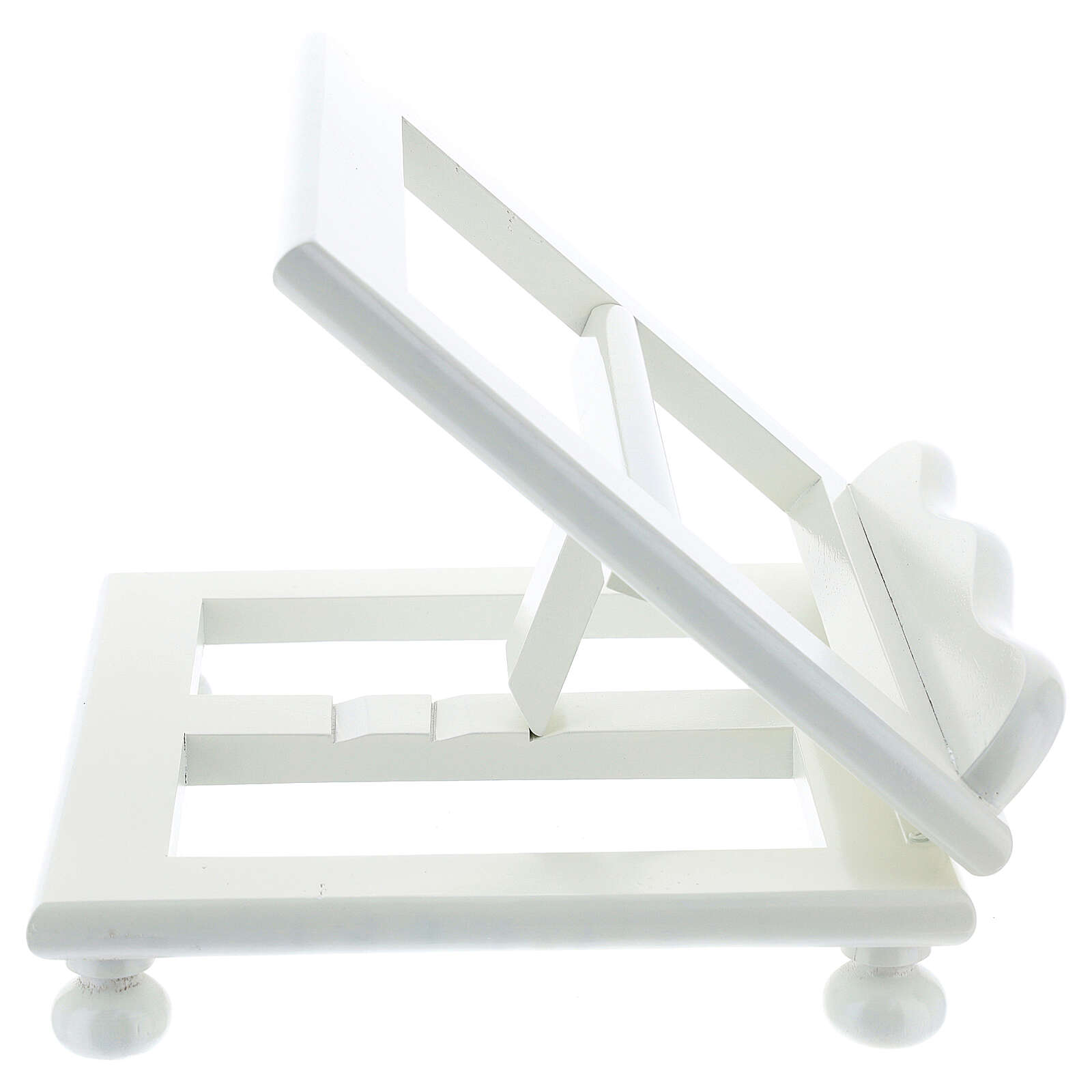Leggio tavolo 20X25 legno bianco regolabile 4