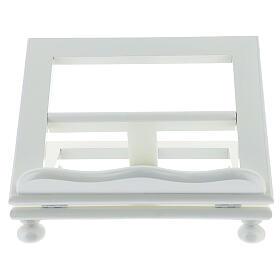 Leggio tavolo 20X25 legno bianco regolabile s1