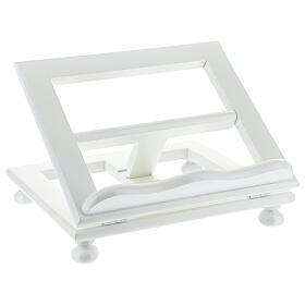 Leggio tavolo 20X25 legno bianco regolabile s3