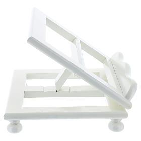 Leggio tavolo 20X25 legno bianco regolabile s6