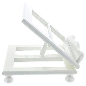 Leggio tavolo 20X25 legno bianco regolabile s7
