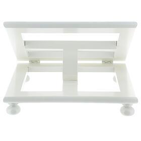 Leggio tavolo 20X25 legno bianco regolabile s8