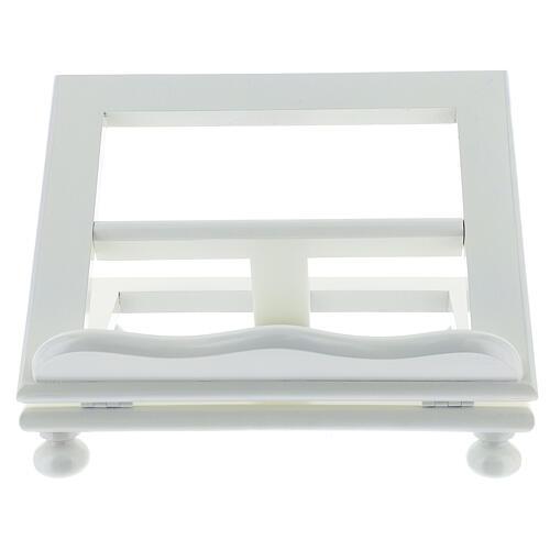 Leggio tavolo 20X25 legno bianco regolabile 1