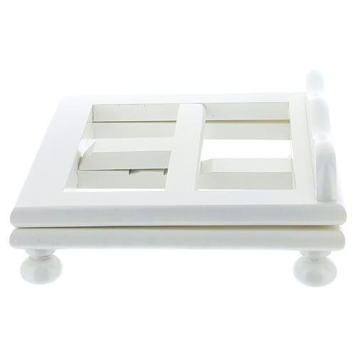 Leggio tavolo 25X30 bianco regolabile legno 4