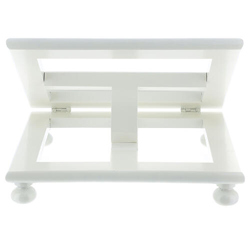 Leggio tavolo 25X30 bianco regolabile legno 8