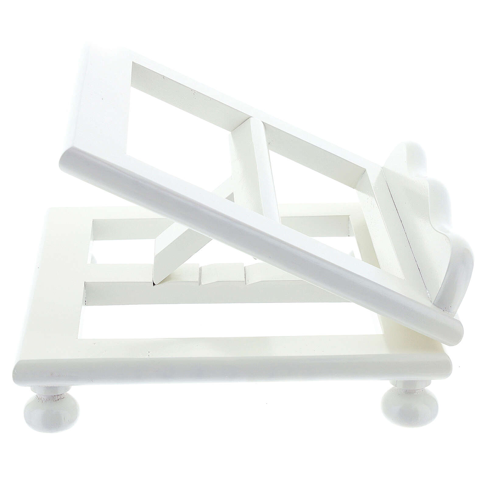 Leggio tavolo regolabile 30X35 cm bianco legno 4