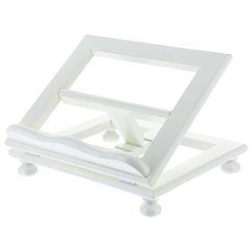 Leggio tavolo regolabile 30X35 cm bianco legno s2