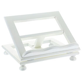 Leggio tavolo regolabile 30X35 cm bianco legno s3