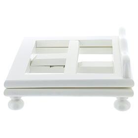 Leggio tavolo regolabile 30X35 cm bianco legno s4