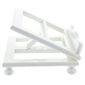 Leggio tavolo regolabile 30X35 cm bianco legno s5