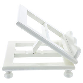 Leggio tavolo regolabile 30X35 cm bianco legno s6
