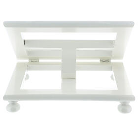 Leggio tavolo regolabile 30X35 cm bianco legno s8