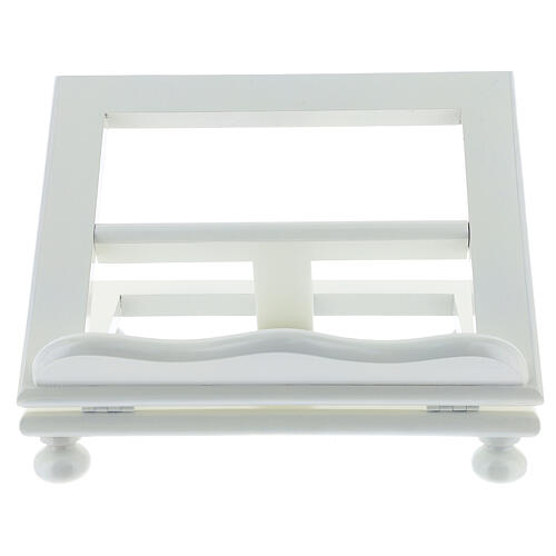 Leggio tavolo regolabile 30X35 cm bianco legno 1