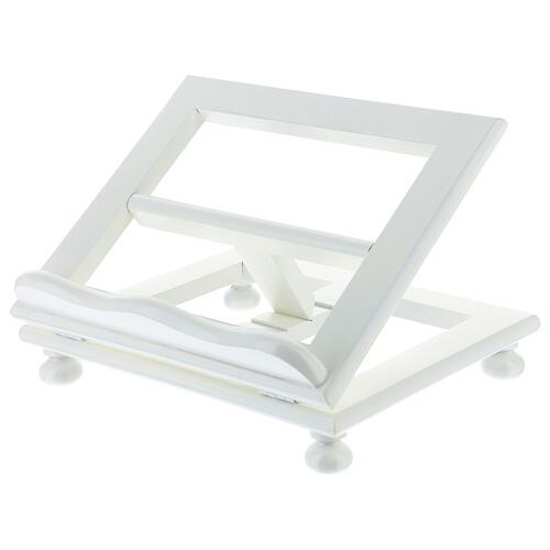 Leggio tavolo regolabile 30X35 cm bianco legno 2