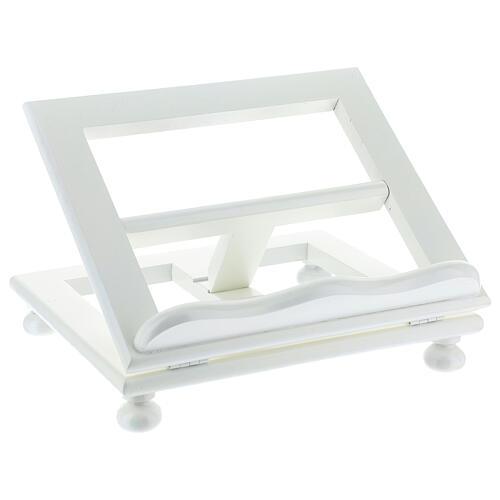 Leggio tavolo regolabile 30X35 cm bianco legno 3