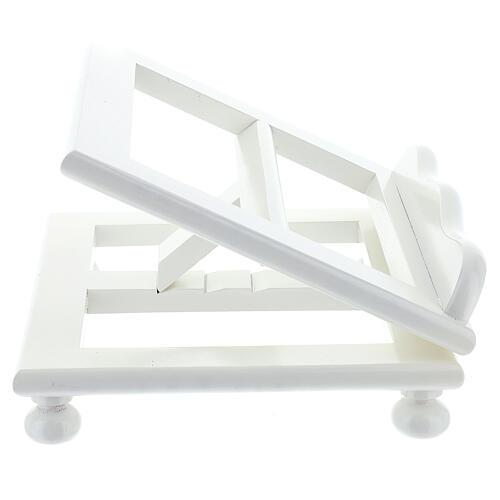 Leggio tavolo regolabile 30X35 cm bianco legno 5