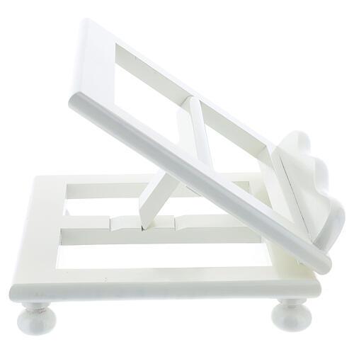 Leggio tavolo regolabile 30X35 cm bianco legno 6